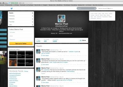 Warrior Poet Twitter Profile